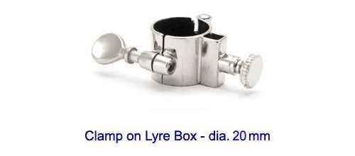Messing-Fix EU zum Anklemmen, für Tuba Marschgabel und Euphonium mit Ø 20 mm Schläuche.