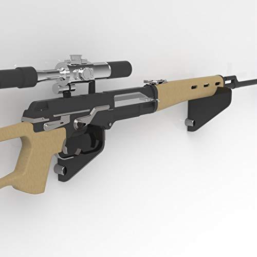 Plexico Gewehrhalter/Musket-Halterung, Acryl, transparent, Schwarz