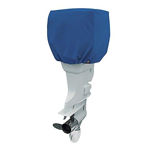 Außenbordmotor Wasserdicht-Coco Boot Motor Cover bis (25-50HP, 50-115HP, 2Strokes, 115-225HP, 4STROKES) Schimmelresistent, und UV-beständig mit dicken Polyester Stoff, blau -