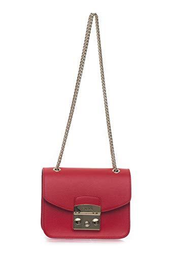 Furla Kleine Tasche aus Leder Metropolis Rot für Damen, Rot One Size