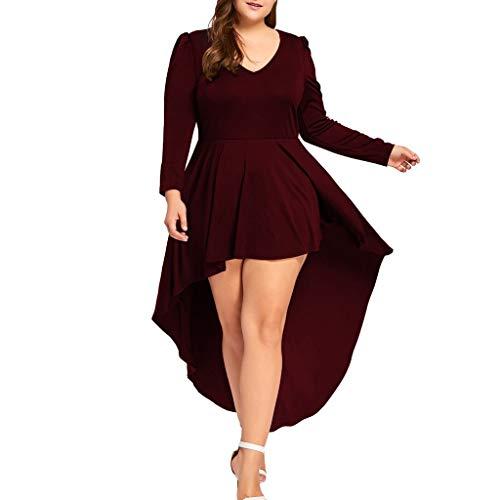 Plus Size Wikinger Krieger Kostüm - Vimoli Kleid Dame Plus Size Einfarbig