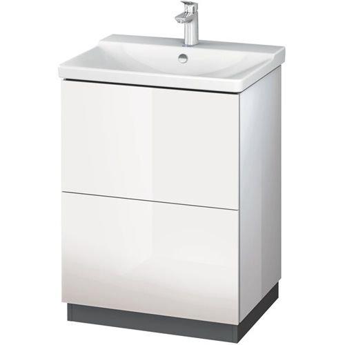 Duravit Waschtisch l-cube Zocalo Ständer 620x 481Für P3Weiß Matt