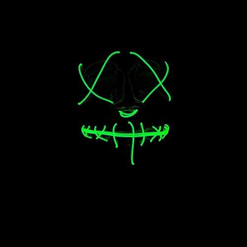 Unbekannt Neon Light Up Mask- Green Secure Yours Now! (Kostüm-ideen Light Up)