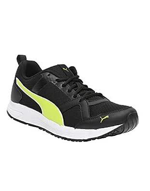 Puma Men's Black-Limepunch White Shoes-6 UK/India (39 EU)(4060979208810)