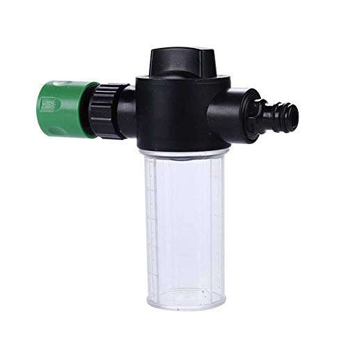 NAKELUCY 100 ml Schneeschaumlanzen-Flaschenset, Autowaschanlage Einteilige Schaumlanze Verstellbarer Waschschäumer Integrierte Waschwasserseife mit Schnellkupplung, 3 Ebenen Schaumtopf
