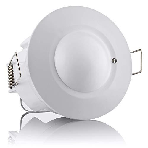 SEBSON® Bewegungsmelder Innen, Unterputz, HF Sensor LED geeignet, Decken Montage programmierbar, Bewegungssensor Reichweite 2-16m/ 360°