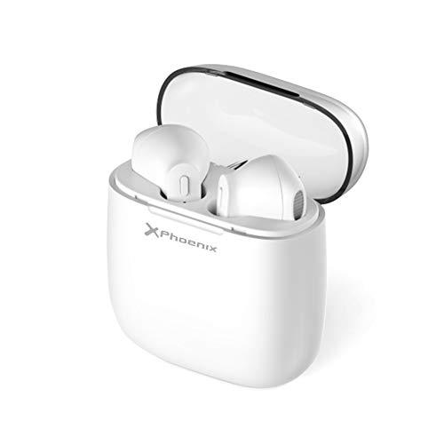 Phoenix technologies Auriculares Bluetooth inalambricos, con Caja de Carga