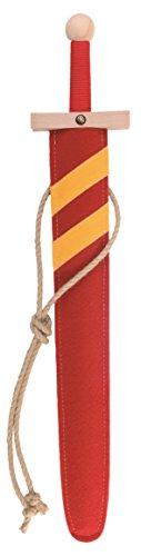 hwert-Set rot, 60cm Länge mit Schwert aus Buche-Echtholz und Schwert-Scheide aus Filz [Tolles Design   Viele Details  Made in Germany] ()