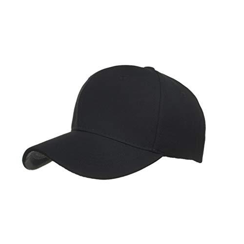 Knowin Kappe Washed Unisex Damen Herren 100% Baumwolle Verstellbarer Hut für Draussen, Sport oder auf Reisen Reine Farbe Outdoor Baseballkappe Volltonfarbe Letters Sport Hat -