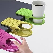 Absales Creative Table Desk Laptop Glass Clip Stylish Cup Holder Clip