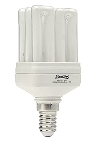 Xanlite AE11VCU Ampoules CFL Cube Miniature 6U 11 W E14 Blanc 97 x 45 mm