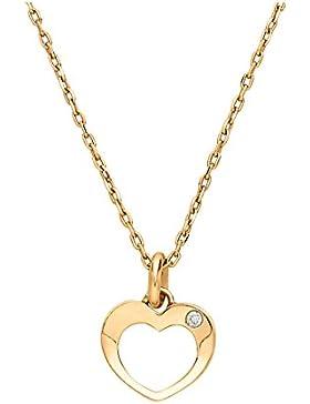 CHRIST Diamonds Damen-Kette 333er Gelbgold 1 Brillanten ca. 0,01 ct. One Size, gold