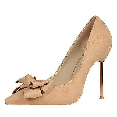 Moda Donna Sandali Sexy donna tacchi primavera / estate / autunno casual Comfort Stiletto Heel Bowknot Burgundy