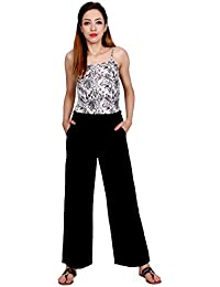 Rapsodia Women's Rayon Solid Regular Fit Palazzo