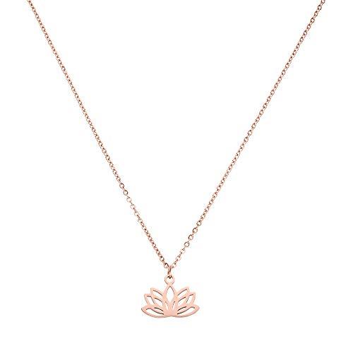 PURELEI Damen Halskette Rosegold Anhänger Geschenk für Frauen Freundin Schmuck (45 cm Länge) Langes Weltkugel Herz Kette Choker Modeschmuck Set Geburtstagsgeschenk Freundin Mutter