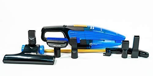 ECO-DE ECO-350 Aspirador Vertical de Escoba, 5 Accesorios Multi Cyclonic, 800w Filtro HEPA, Activ Carbon, Azul/Negro, S