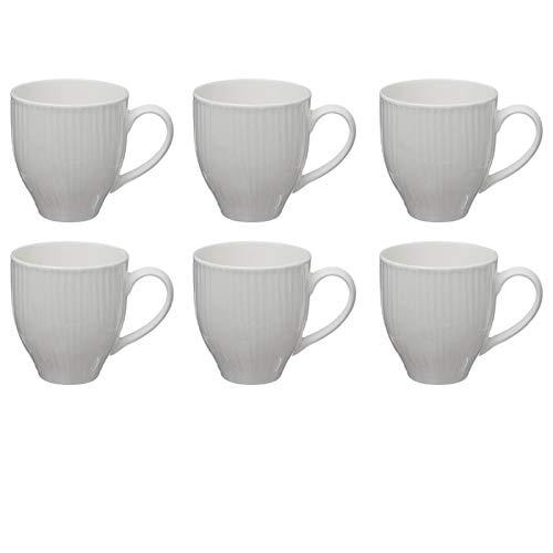 Paris Prix - Lot De 6 Mugs En Porcelaine\