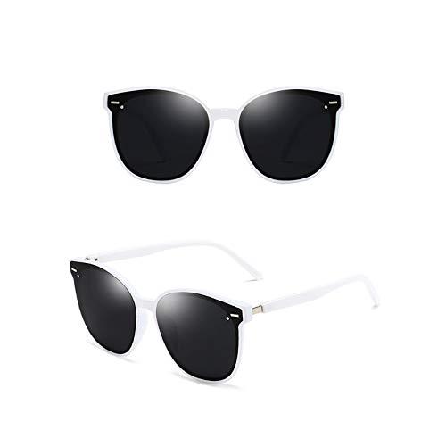 Epinki Damen Polarisierte Sonnenbrille Sonnenbrille UV400 Schutz Mode Brille | Vollrand | für Alltag, Party, Fahren - Weiß Grau