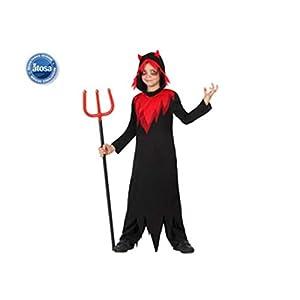 Atosa-22742 Disfraz Demonio, Color Rojo, 5 a 6 años (18124)