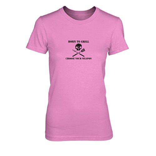 Born to Grill - Damen T-Shirt Pink
