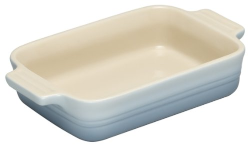 Le Creuset Stoneware Shallow Rectangular Dish, 18 cm - Coastal blue