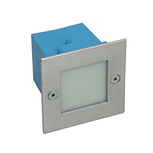Kanlux Taxi - Dispositivo a muro quadrato con luce a LED 9 KW bianco latte - 4390