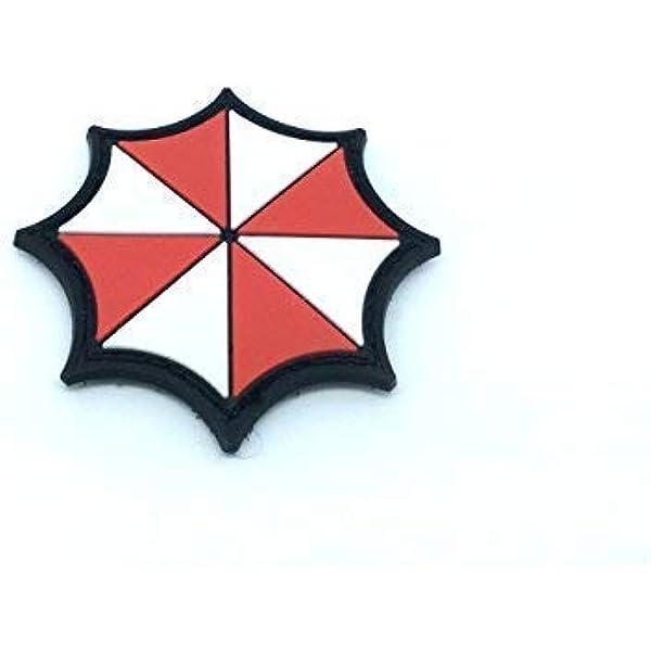 Patch Nation Umbrella Logo Resident Evil Cosplay Pvc Klett Emblem Abzeichen Sport Freizeit