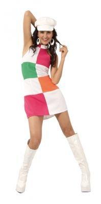 GOGO GIRL DEBRA Faschingskostüm Kostüm Gr. M 40/42 Sommerkleid 70er Hippie Schlager Schlagermove sexy Boland (Hippie Girl Sexy Kostüm)