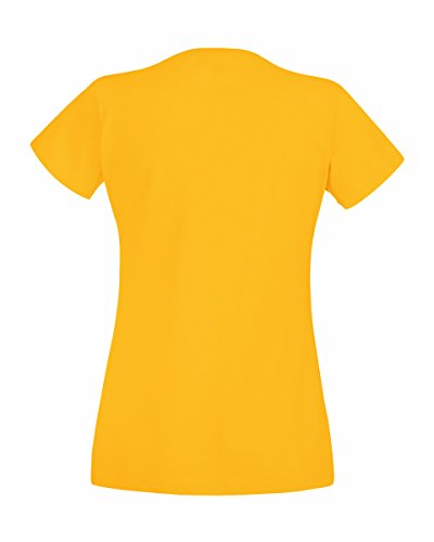 Fruit of the Loom T-shirt da donna Gelb - sunflower