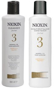 Nioxin Cleanser & Scalp Therapy System 3 - Shampoo & Conditioner Duo/Twin Pack 300ml