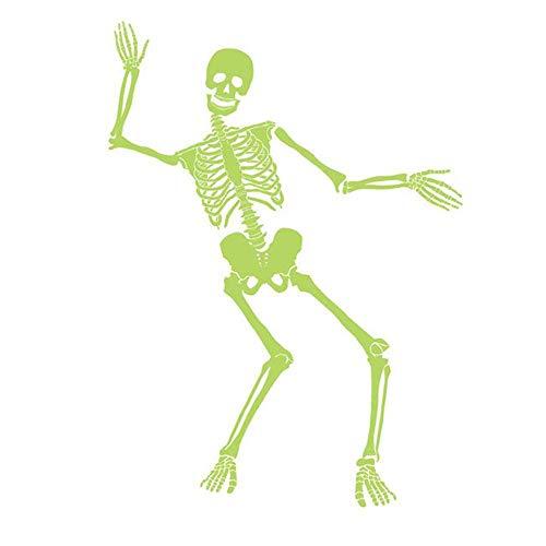 TechCode 2 stücke Halloween Leuchtaufkleber Skelett Leuchtende Wandaufkleber Schädel Aufkleber PVC Material Dekoration wandaufkleber.
