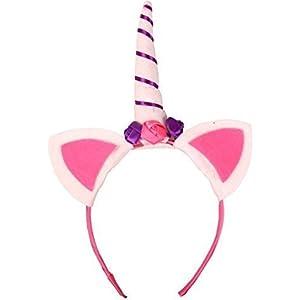 UChic 3 STÜCKE Einhorn Horn Haarband Blumen Ohren Kinder DIY Party Hüte Baby Stirnband Haar Dekorative Stil Zufällig