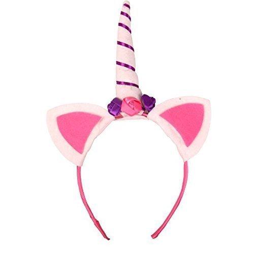 orn Horn Haarband Blumen Ohren Kinder DIY Party Hüte Baby Stirnband Haar Dekorative Stil Zufällig (Blume Stirnbänder Diy)