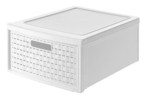 Rotho 1149100100 Country Scatola con Cassetto, Grande, colore: Bianco