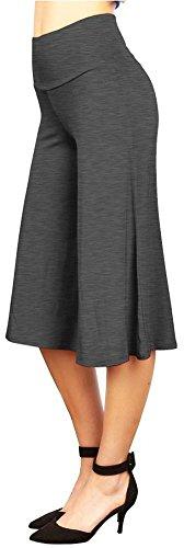 Happy Lily Yoga Hosen mit hoher Taille, breiten Beinen, Culottes Palazzo Bell für Frauen., damen, Dunkelgrau (Navy-yoga-hosen Old)