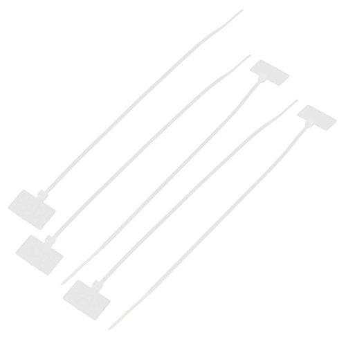 sourcingmap® 5 pc Câble réseau fil nylon Cordon étiquette ID étiquettes Attaches Zip 4 x 200mm