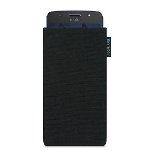 Motorola Moto G5S Hülle, Adore June Tasche [Serie Classic] original Cordura in schwarz. Handytasche aus widerstandsfähigem Textil-Stoff [Display-Reinigungseffekt] Moto G5 S case sleeve