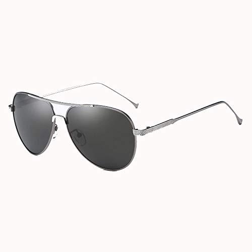 W&MB Occhiali da Sole HD Polarizzati, Outdoor Maschio E Femmina Generale Protezione Solare Occhiali da Sole Anti-Ultravioletti Full Metal Frame Semi-Ombreggiato Occhiali da Sole,Metallic