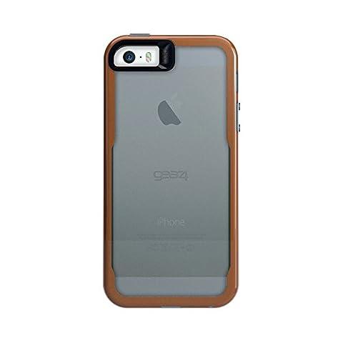 Gear4 D3O Jumpsuit Coque pour iPhone 5/5S/5SE/SE Transparent/Fumé Orange