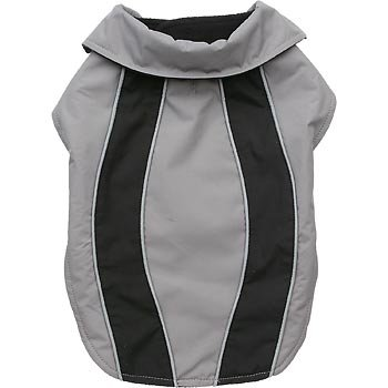 Artikelbild: Petco Gray/Black Reflective Nylon Dog Jacket, Medium/Large by Petco