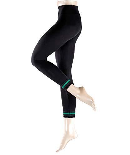 Esprit Damen Leggings Ruffle 1 Paar - 92% Baumwolle - schwarz - Größe 44-46 -Leggins Damenleggings