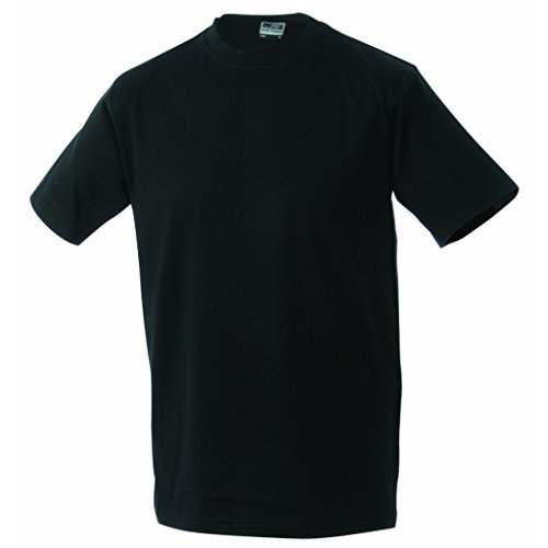 JAMES & NICHOLSON Komfort-T-Shirt aus strapazierfähigem Single-Jersey Black