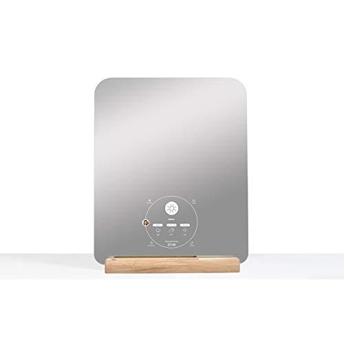 Miliboo Miroir rectangulaire connecté Design avec Support en chêne Ekko