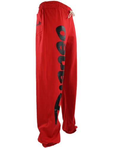 Pantalon Jogging Djaneo Rio Coton. Homme et Femme (plus de 30 couleurs disponible) Rouge et Noir