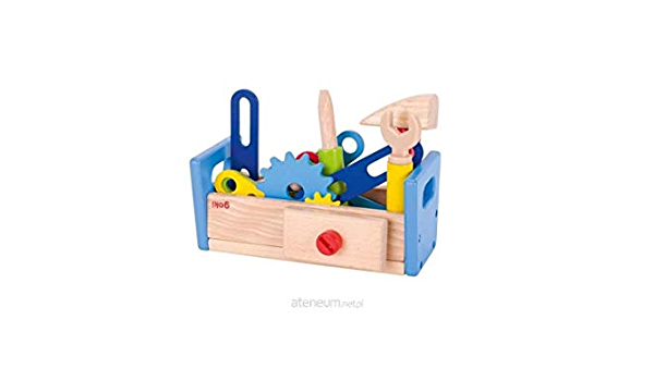 Goki 58501 Werkbank aus Holz 36-teilig