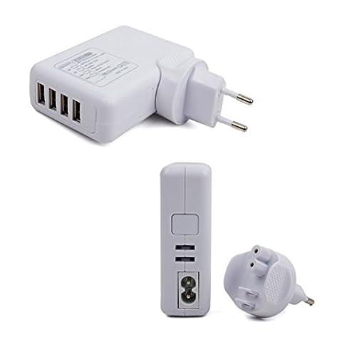 DURAGADGET Chargeur secteur 4 ports USB rapide pour Walkera VOYAGER4,