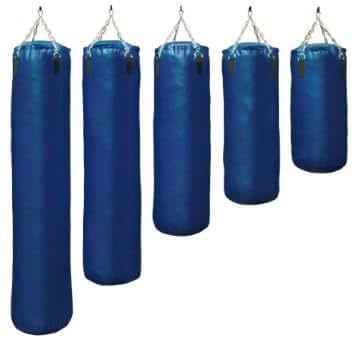 S.B.J Sportland Sac de frappe en cuir artificiel non-rempli Bleu 100 cm