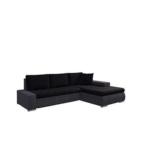 Mirjan24  Elegante Sofa Orkan Mini mit Schlaffunktion und Bettfunktion, Eckcouch Ecksofa mit Bettkasten, Couch L-Sofa Große Farbauswahl, Beste Qualität (Ottomane Universal, Boss 12 + Boss 14) (Großes Microfaser-ottomane)