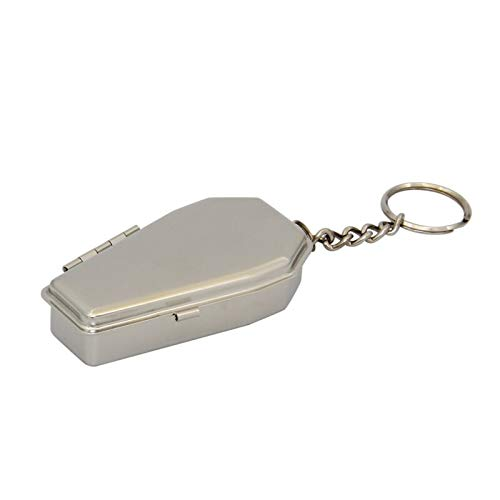 L'Miracle Home Sarg Schlüsselanhänger Aschenbecher Aschenbecher Taschenaschenbecher aus Metall Tragbarer Aschenbecher (Sarg Autos)