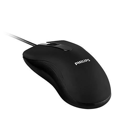 Philips Optische maus mit kabel, Laptop Maus mit Kabel PC Maus 1000 DPI 3 Tasten Business Mouse für PC Laptop iMac MacBook Microsoft Pro, Office Home